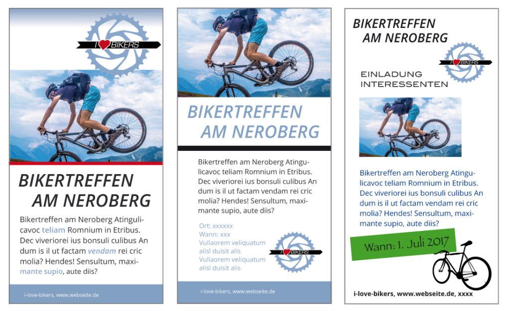 Gestaltung Flyer fu r Blog